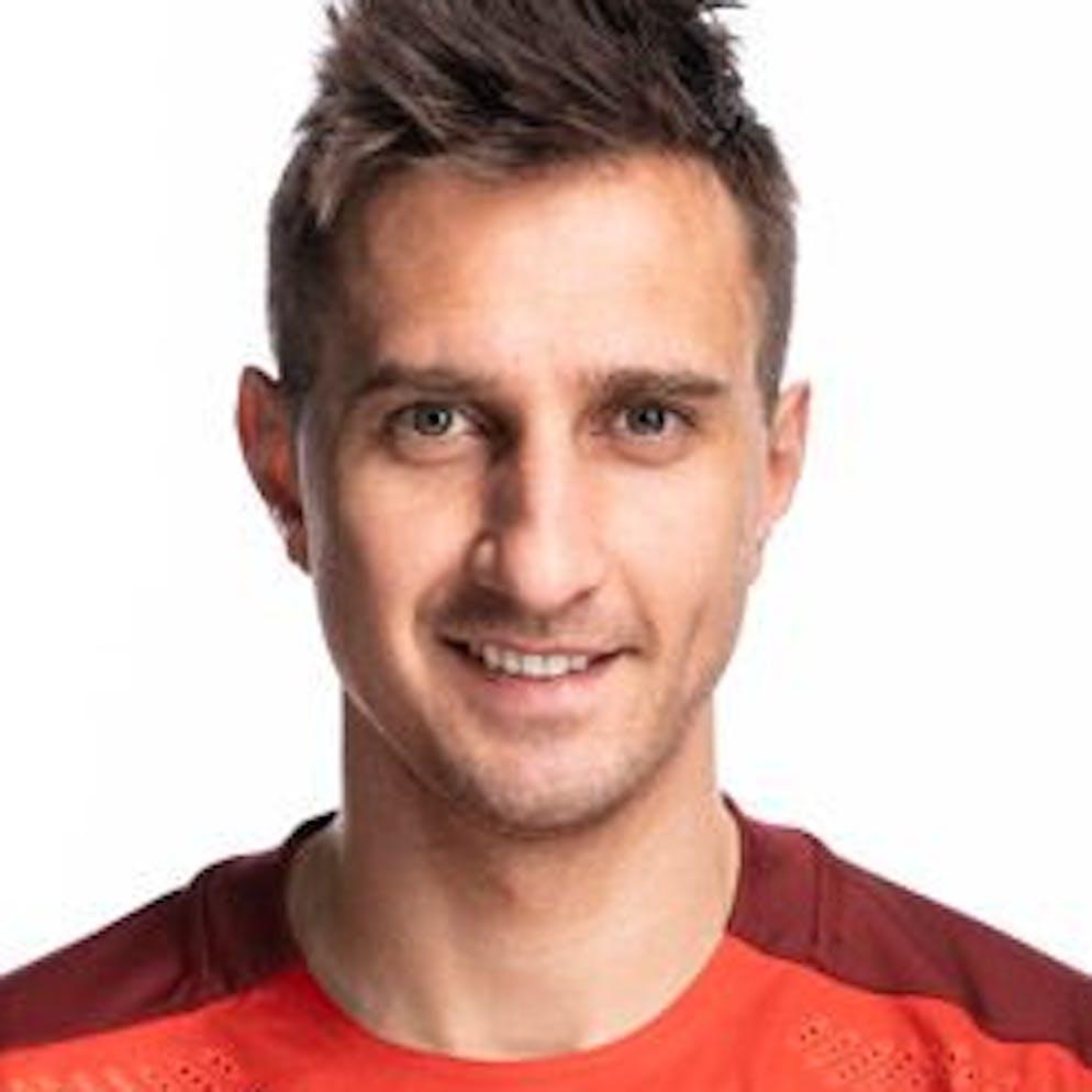 Portrait von Mario Gavranovic, der Schweizer Fussballnationalmannschaft, aufgenommen am 22. Maerz 2021 in Abtwil (SG). (KEYSTONE/Gaetan Bally)