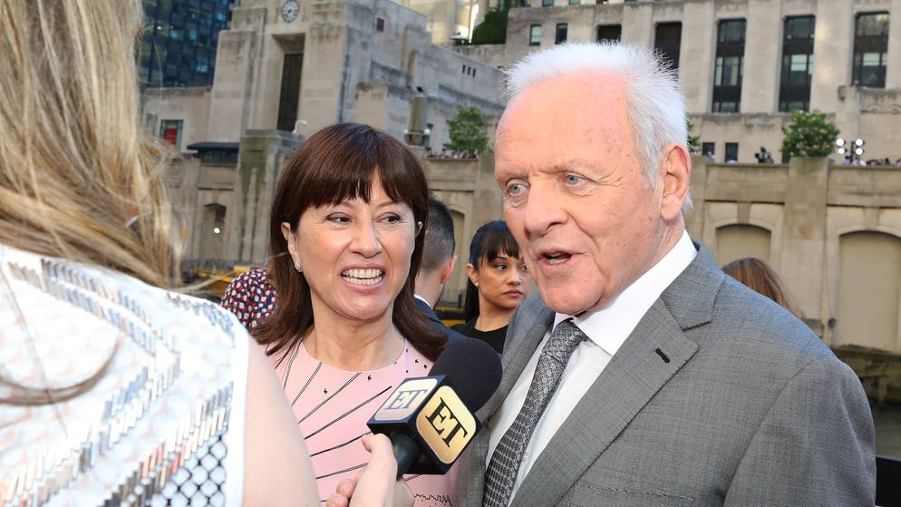 CHICAGO, IL - JUNE 20:  Anthony Hopkins (R) and his wife Stella Arroyave arrive for the premiere of 'Transformers: The Last Knight' at Civic Opera Building on June 20, 2017 in Chicago, Illinois.  (Photo by Gabriel Grams/FilmMagic)