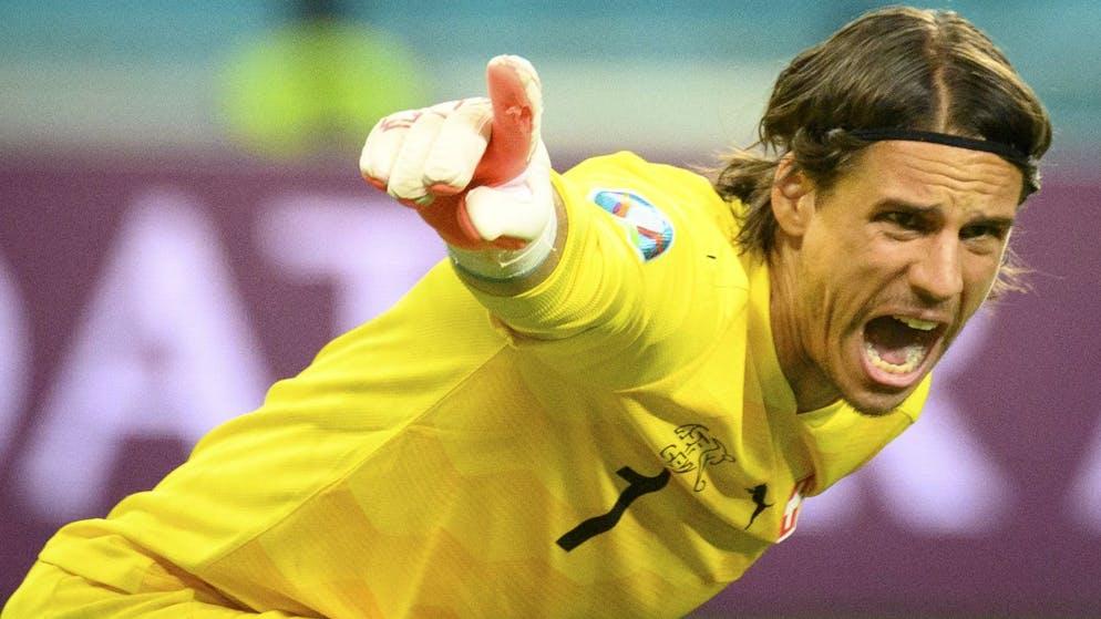Switzerland's goalkeeper Yann Sommer reacts during the Euro 2020 soccer tournament group A match between Switzerland and Turkey at the Olympic stadium, in Baku, Azerbaijan, Sunday, June 20, 2021. (KEYSTONE/Jean-Christophe Bott)