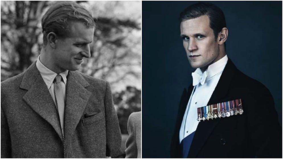 Il giovane principe Filippo è interpretato da Matt Smith (