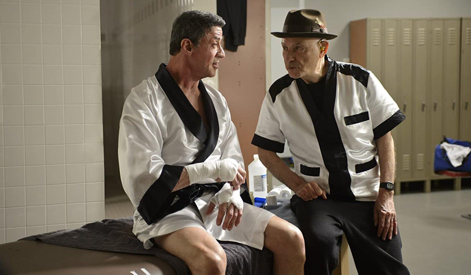 «Grudge Match» (2013): Alan Arkin fragt den in die Jahre gekommenen Stallone, ob er zuhause ein iPad habe. «Nein, ich habe ein normales Sofa.»